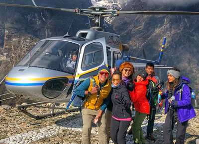 everest heli tour cost with alpine